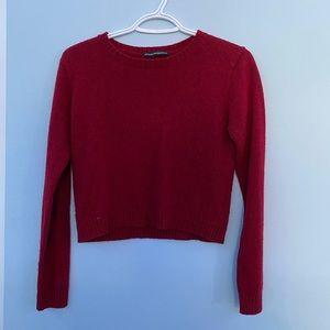 brandy melville deep red sweater